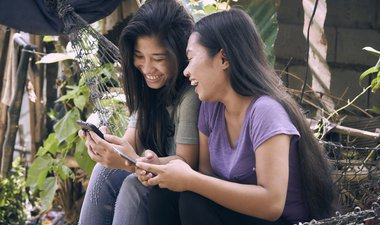 Girls and mobile