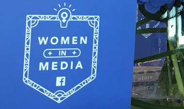 Girl Effect on stage at Facebook Women in Media event