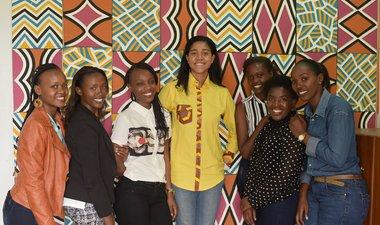 Ni Nyampinga journalists interview teen film-maker and girls' education advocate
